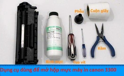 Bộ dụng cụ để bơm mực máy in canon 3300