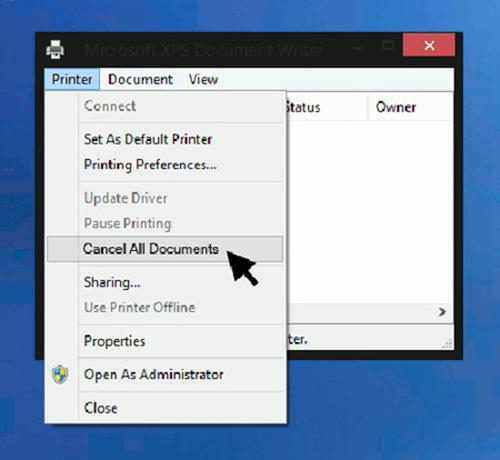 hướng dẫn cách xóa, cách hủy lệnh in trên máy tính