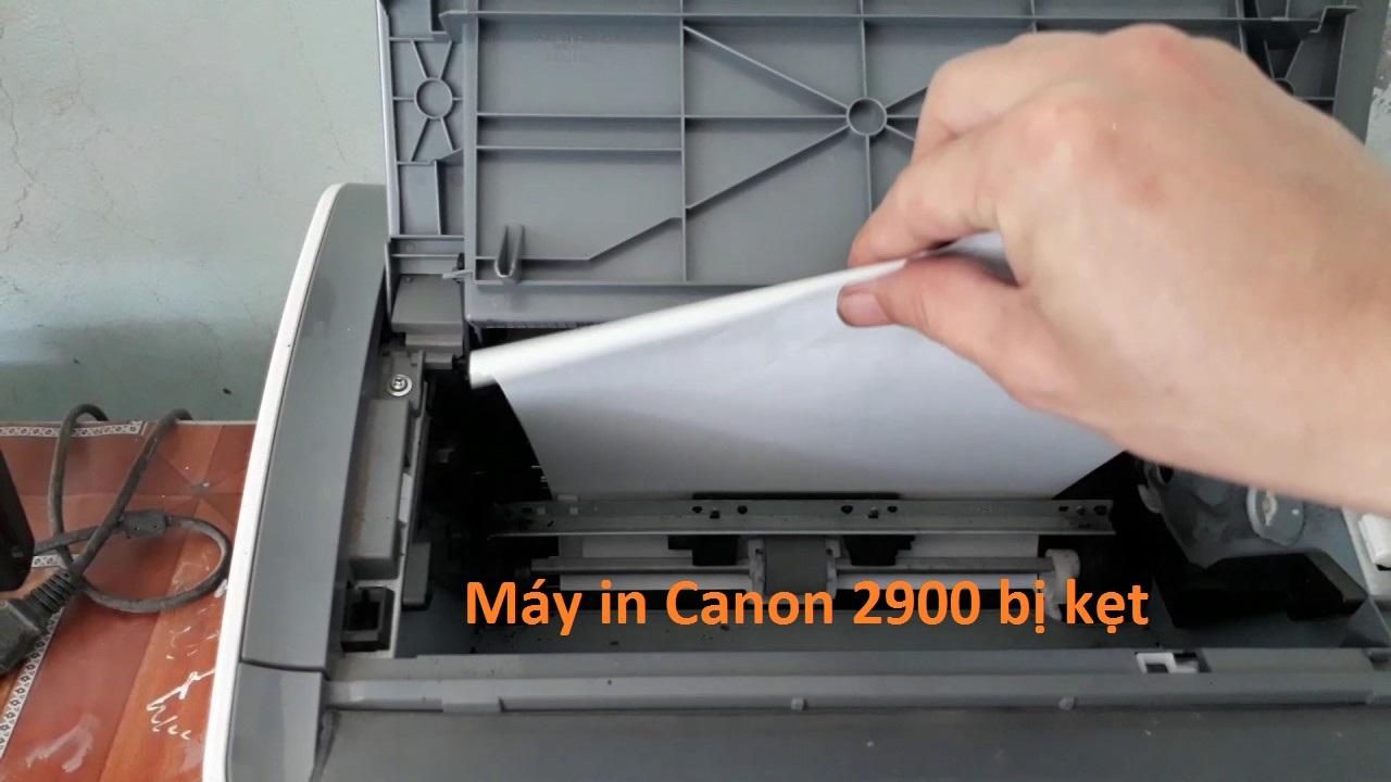 Cách tự xử lý khi máy in Canon 2900 bị kẹt giấy
