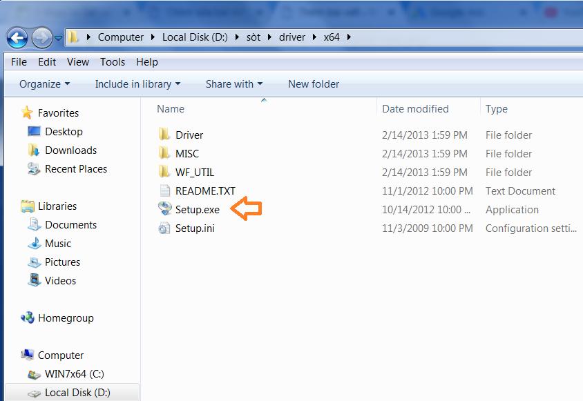 Chạy file Setup Cài đặt driver máy in canon 2900