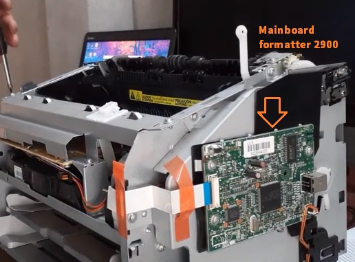 Thay mainboard Formatter canon 2900