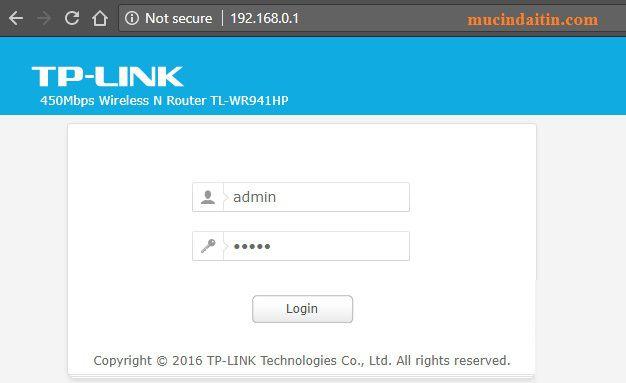Đăng nhập wifi tp link