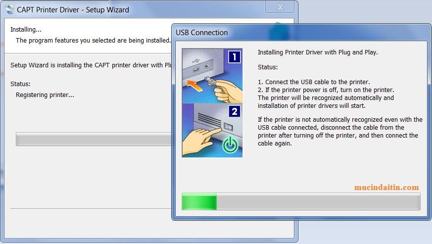 Cấm dây kết nối máy in với máy tính khi cài driver cho win 10