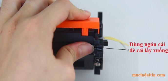 Cách gắn chip máy in hp hop muc 17a 30a