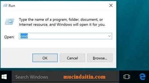 Cấp lại ip mạng cho laptop khi không vào được mạng