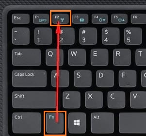 Phím bật tắt wifi trên bàn phím laptop