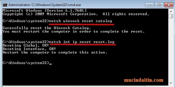 Lỗi mất kết nối internet không vào mạng được