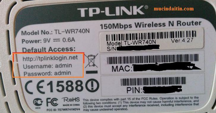 xem thông tin username và password wiffi tp link