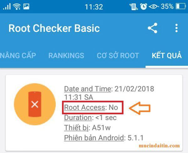 Kiểm tra điện thoại android đã root chưa