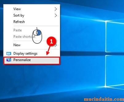 Cách đưa control panel ra desktop win 10