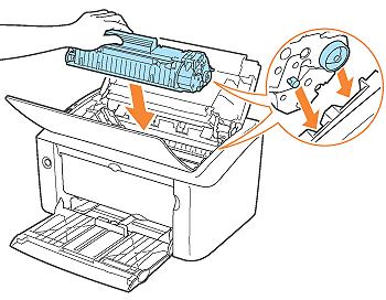 Cách gắn hộp mực cartridge vào máy in