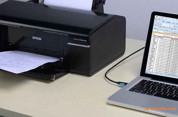 Kết nối máy in với laptop win 10 bằng cáp kết nối usb