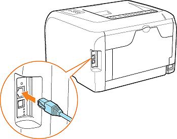 Cắm dây kết nối máy in với máy tính
