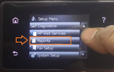 Đối với màn hình cảm ứng cũng vậy tìm dòng chữ Reports.