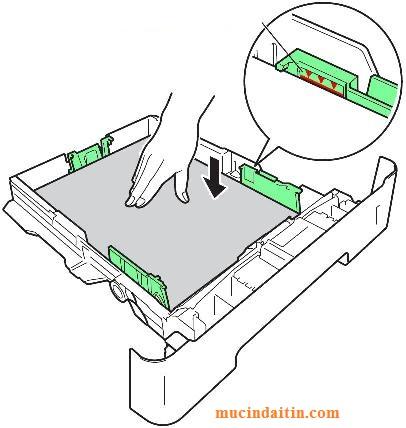 Cách để giấy vào máy in brother
