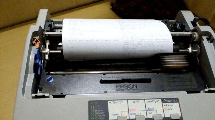 Chinh đậm mực cho máy in epson lq310.