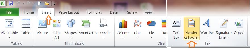 Đánh số trang trong tab insert
