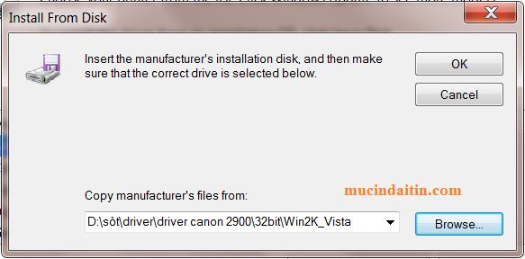 Cài đặt driver máy in bằng cách add a printer cho win 7
