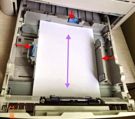 Nạp giấy vào khay giấy máy in Canon 3300