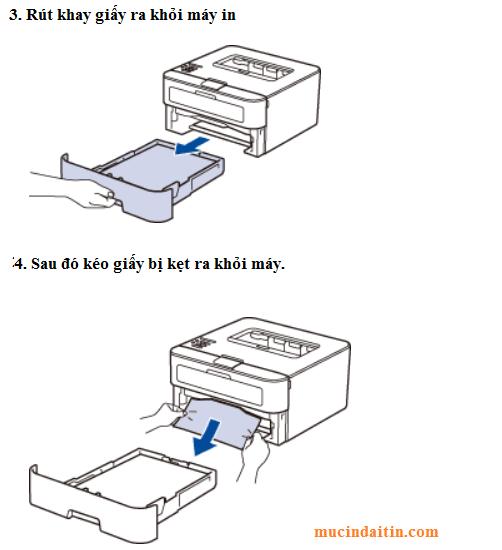 Cách kéo giấy bị kẹt ra khỏi máy in brother không bị rách