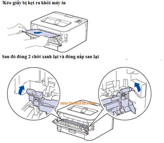 Cách kéo giấy máy in bị kẹt trong máy in brother
