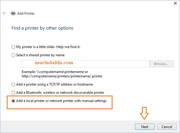 Add printer window 10/8