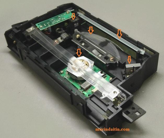 Lỗi scanner Error E100 0000 do gương phản xạ bị dơ