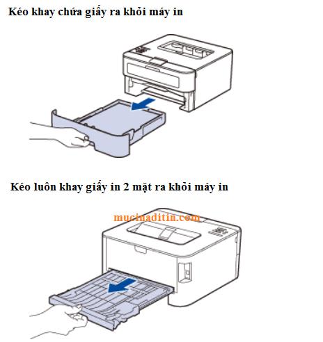 Lấy giấy bị kẹt trong máy in brother khi in 2 mặt kẹt giấy