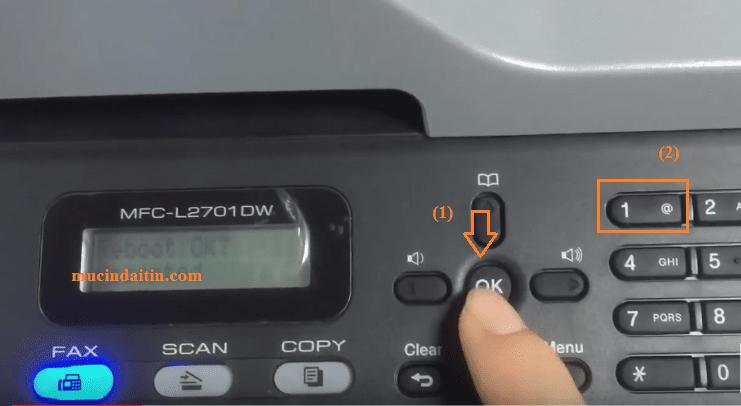 Cách reset máy in brother 2701d/ 2701dw báo lỗi replace drum