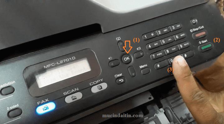 Cách reset máy in brother 2701d báo lỗi toner drum - Mực in Đại Tín