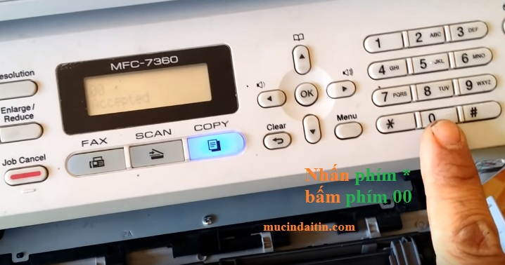 Cách reset toner máy in brother mfc 7360/ 7340