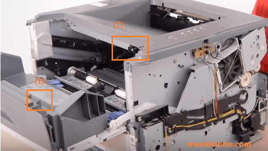Chốt đóng mở cửa hộp quang tia laser máy in Canon 3300