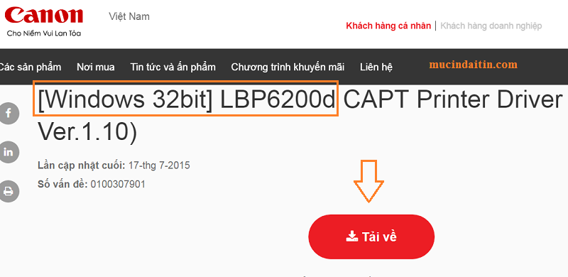 Download driver Canon 6200d cho win 10 32bit 64bit