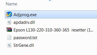Chạy file Adjprog.exe để reset máy in epson