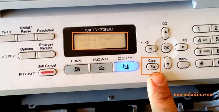 Cách reset máy in brother 7360 lỗi replace toner chi tiết nhất - Mực