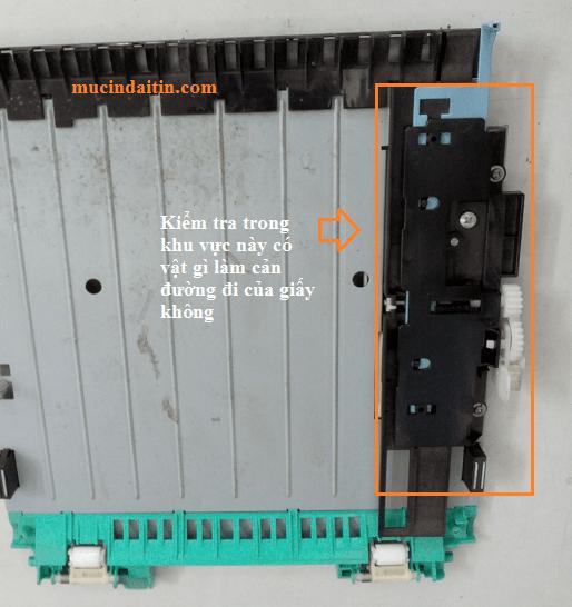 Vệ sinh khay duplex in 2 mặt nếu máy in Canon 3300 in 2 mặt bị kẹt giấy