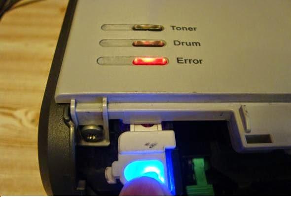 Sửa lỗi máy in brother báo drum