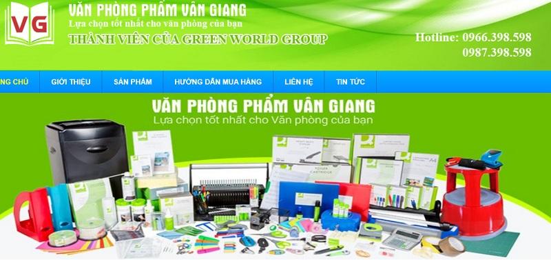 Công ty văn phòng phẩm vân giang Hà Nội