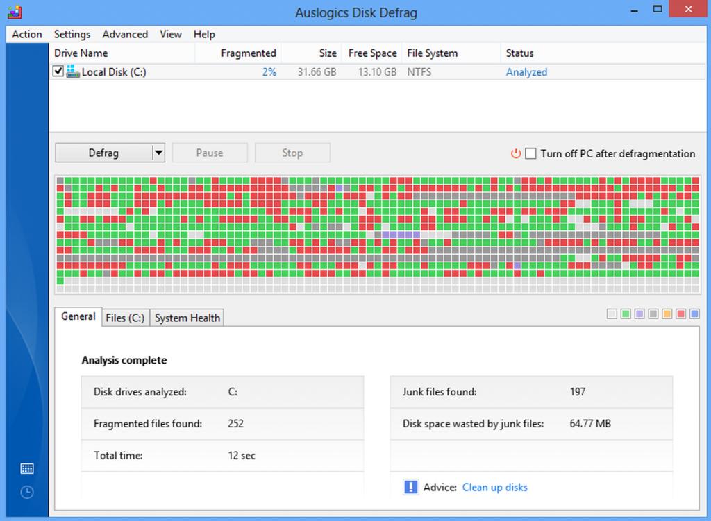 Disk Defragment-  phần mềm chống phân mảnh ổ cứng  tốt