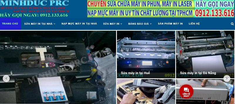 Minh đức PRC sửa máy in tại nhà giá rẻ.
