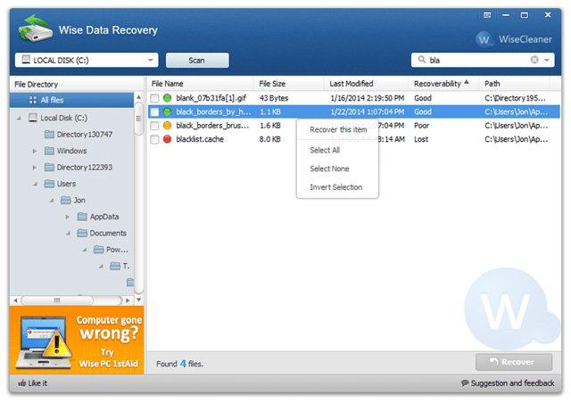 Phần mềm khôi phục dữ liệu nhanh chóng