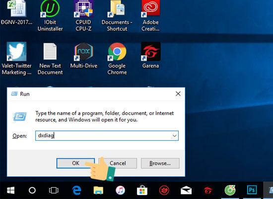 Xem thông tin máy tính với lệnh dxdiag