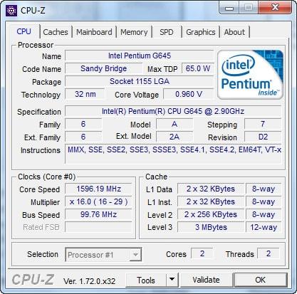 Kiểm tra cấu hình máy tính laptop bằng CPU – Z