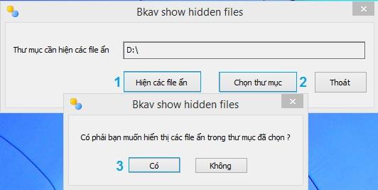 Chọn phần mềm hiện thị file ẩn phù hợp nhất