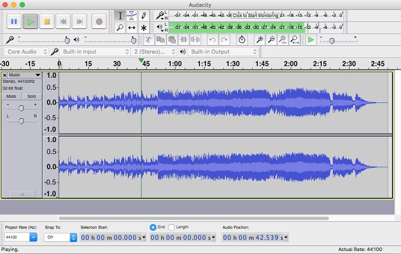 Phần mềm thu ghi âm Audacity