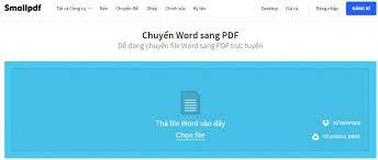 Phần mềm ghép file pdf Small PDF