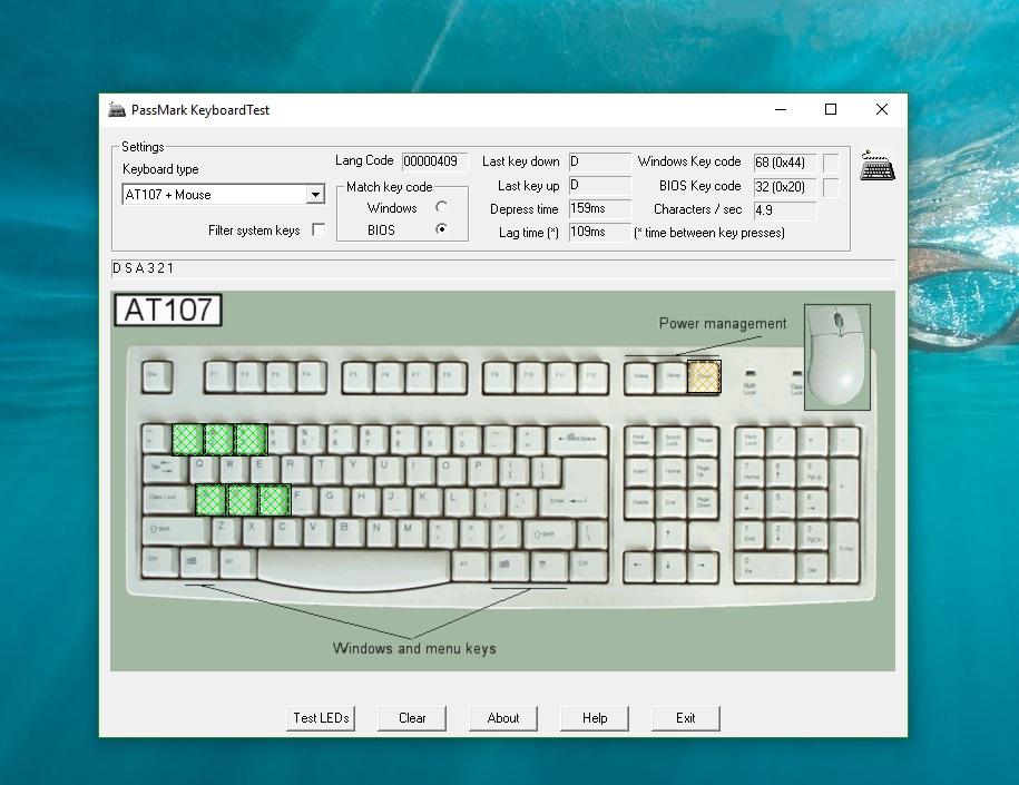 Phần mềm test bàn phím
