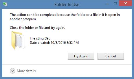 Phần mềm xóa file cứng đầu