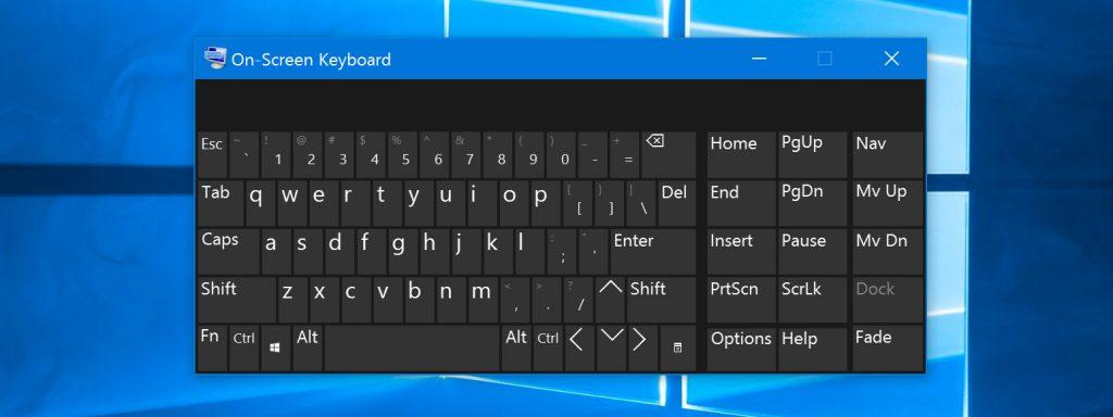 Công dụng của bàn phím ảo Win 10