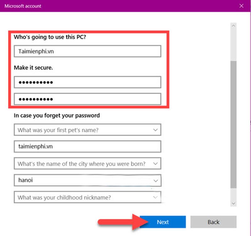 Hướng dẫn đặt tên và password win 10 đơn giản